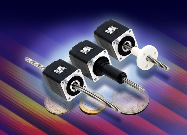 The linear actuators are available in sizes as small as NEMA8